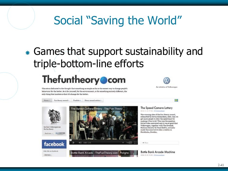 2-41 Social Saving the World  Games that support sustainability and triple-bottom-line efforts