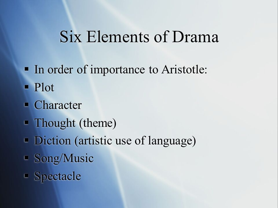6 Six Elements Of Drama  Ef 82 A7 In Order