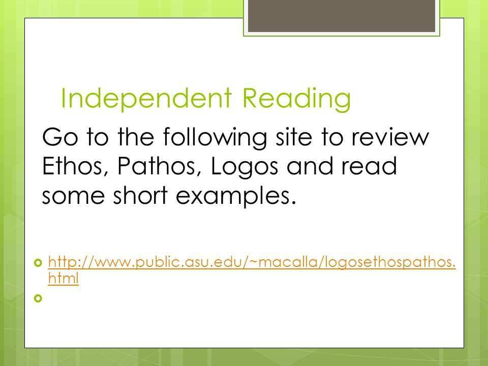 Independent Reading 