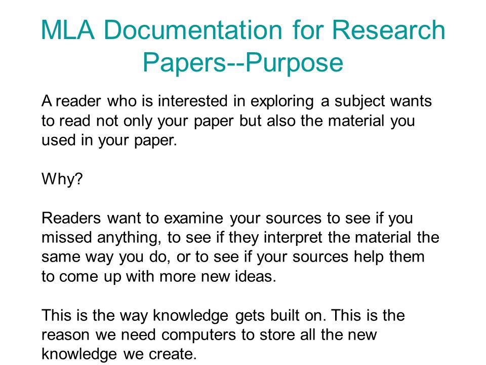 research paper purpose