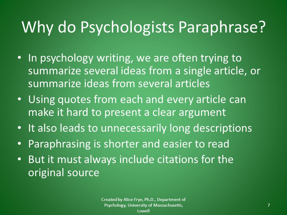 How To Paraphrase And Not Use Direct Quotes Created By Alice Frye