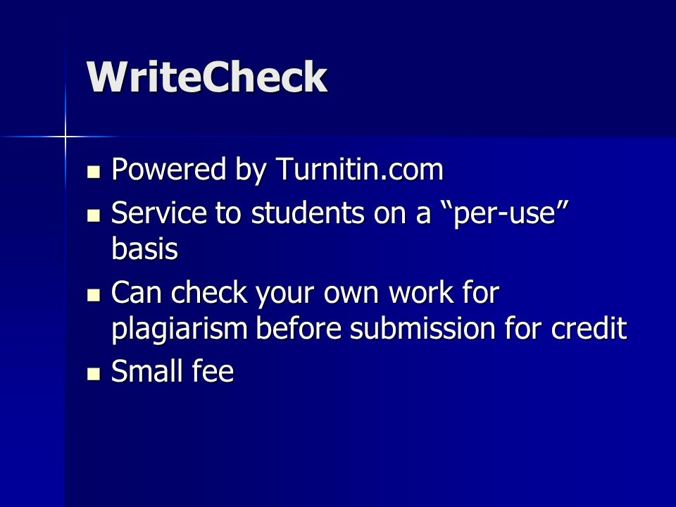 how to check your own work for plagiarism