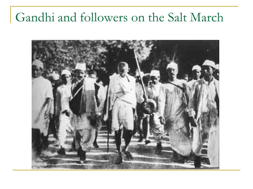Gandhi and followers on the Salt March