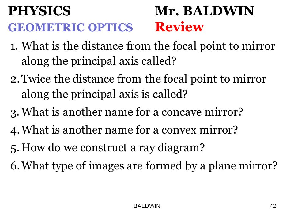 BALDWIN42 PHYSICS Mr.