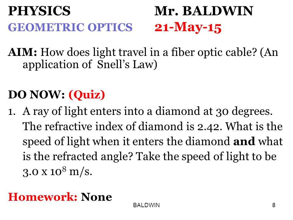 BALDWIN8 PHYSICS Mr.