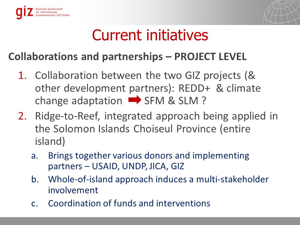 GIZ support to Fiji Forestry Christine Fung Land Use