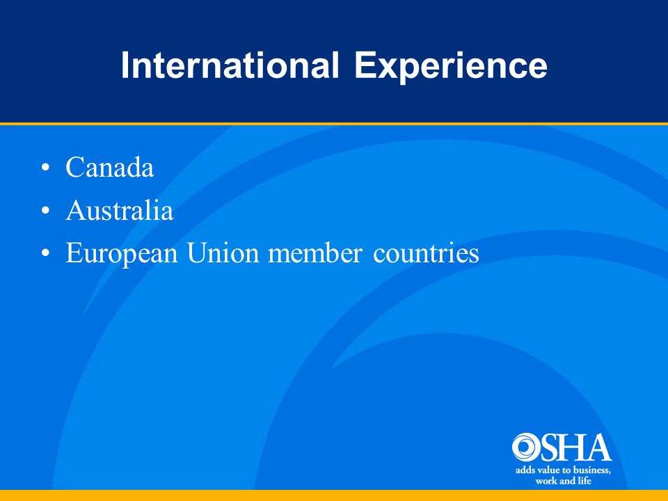 International Experience Canada Australia European Union member countries