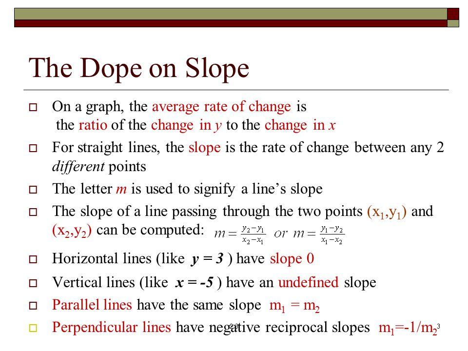 slope intercept form rate of change  Section 12.12 Linear Functions: Slope, Graphs & Models ...