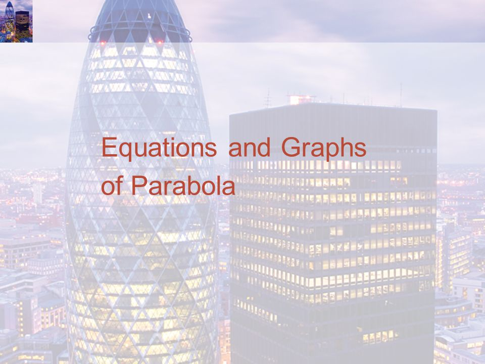 Equations and Graphs of Parabola