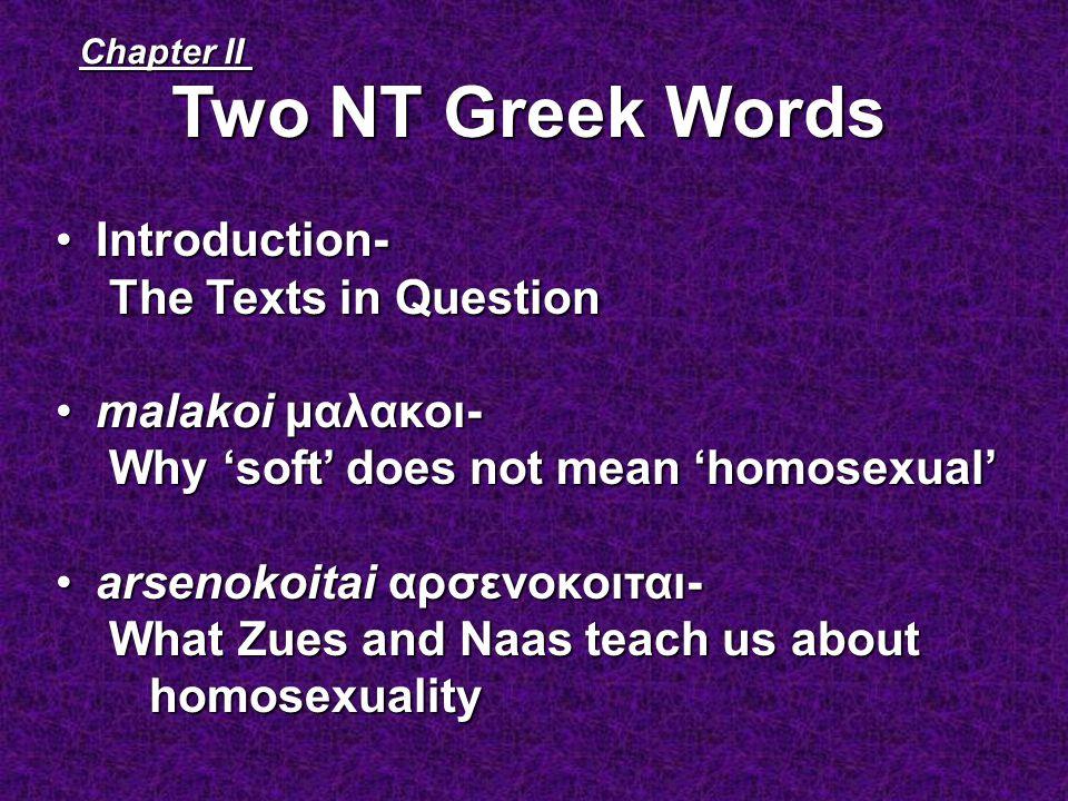 Arsenokoitai doesnt mean homosexual advance
