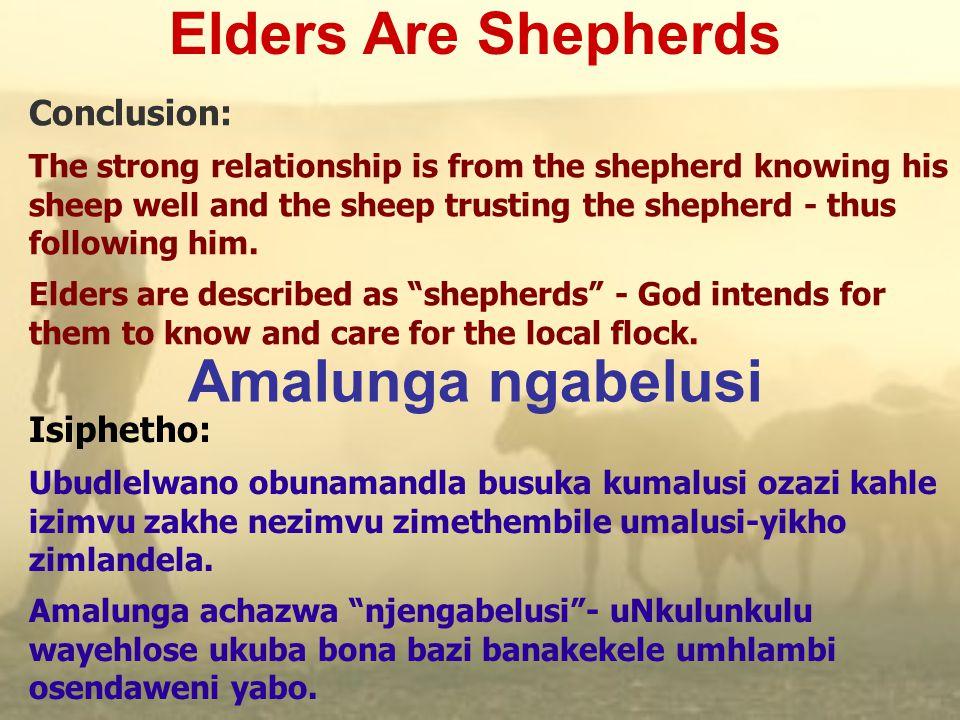Learning About Shepherds Ukufunda ngabelusi  Acts 20:28