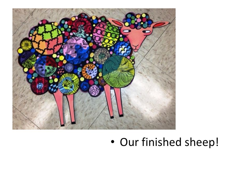 Our finished sheep!