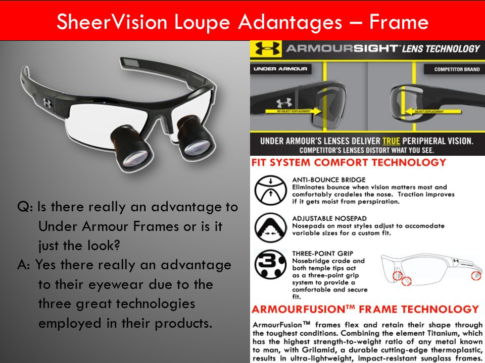 d0c9514fc36 SheerVision Loupe Adantages – Frame Q  Is there really an advantage to Under  Armour Frames