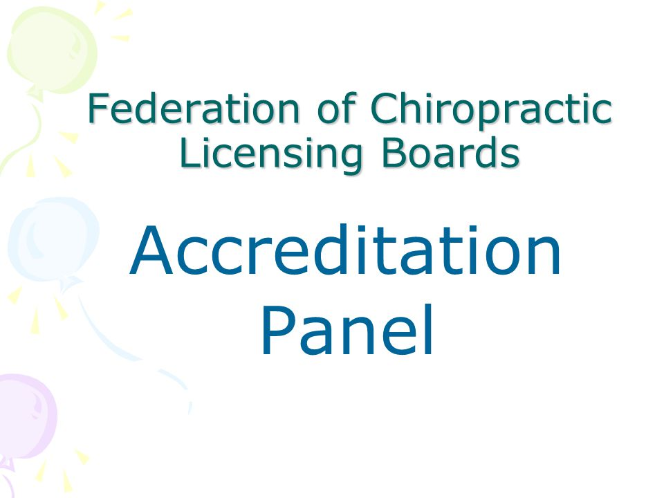 Federation of Chiropractic Licensing Boards Accreditation Panel