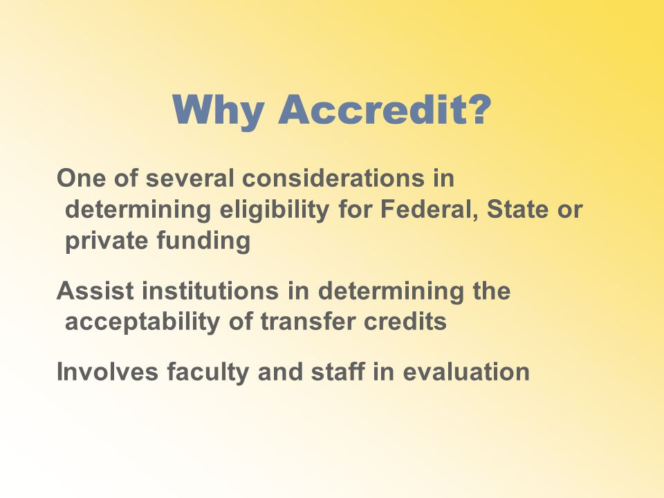 Why Accredit.
