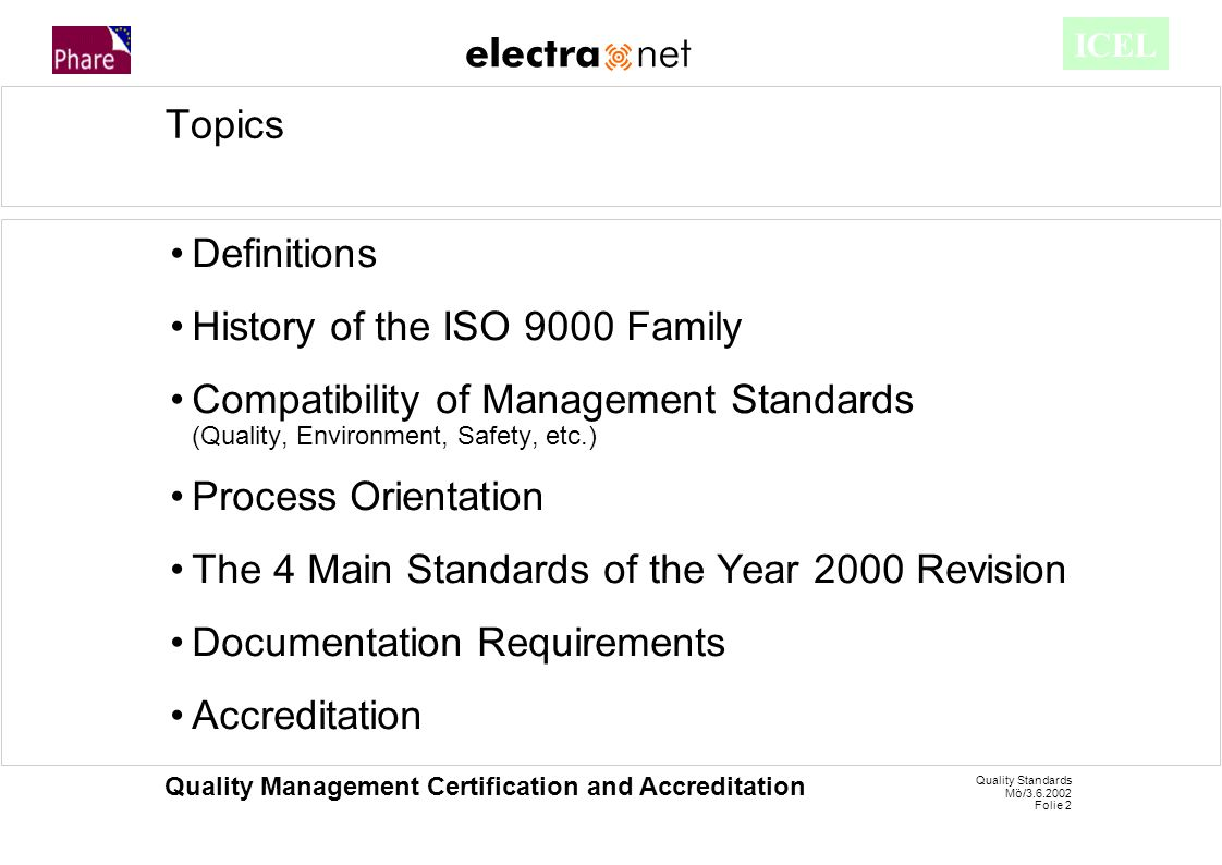 quality standards mö/ folie 1 quality management certification and
