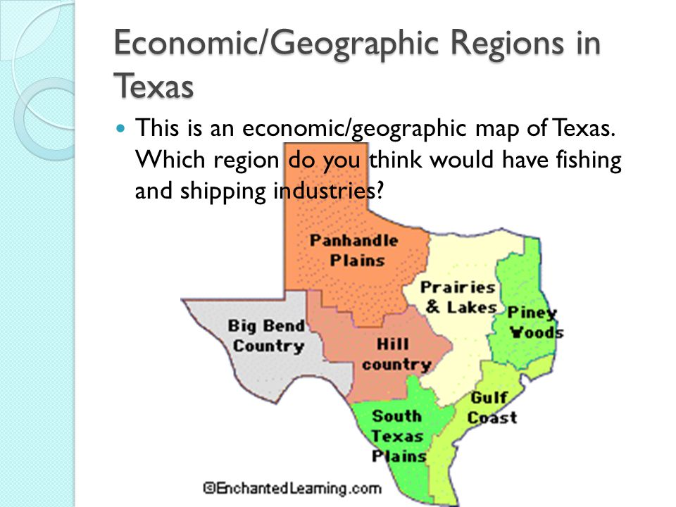 Population Political And Economic Geographic Regions Of Texas And