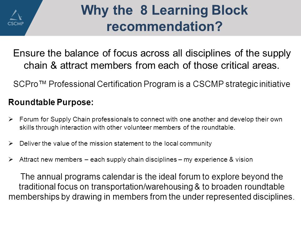 Vice President Programs One Cscmp Who Am I What Makes Me Qualified