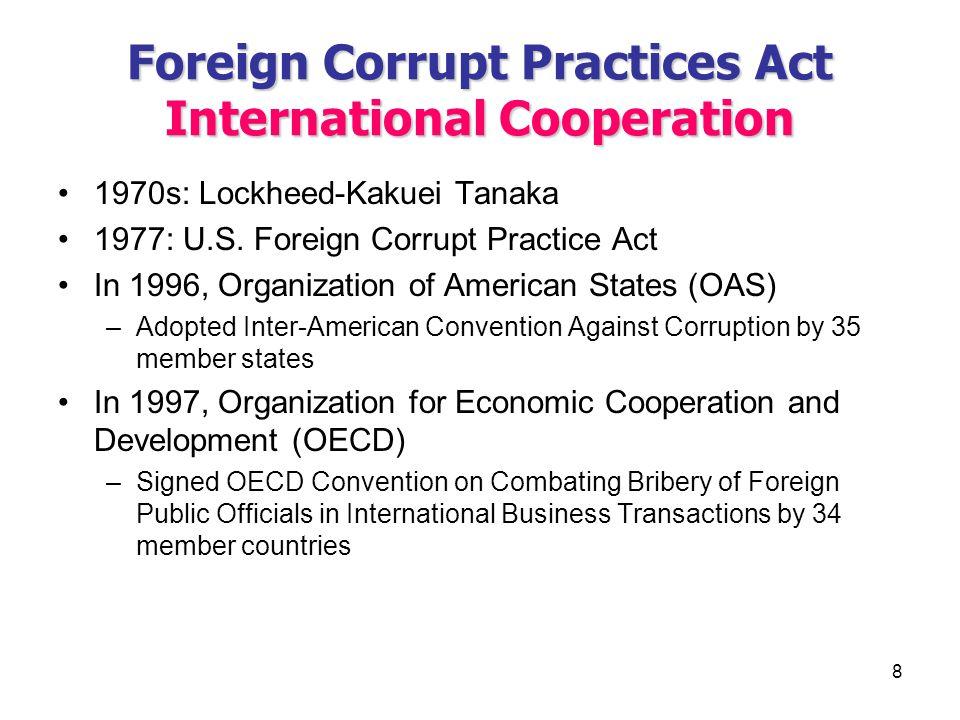 1 CHAPTER XXVIII FOREIGN CORRUPT PRACTICES ACT & ANTIBOYCOTT