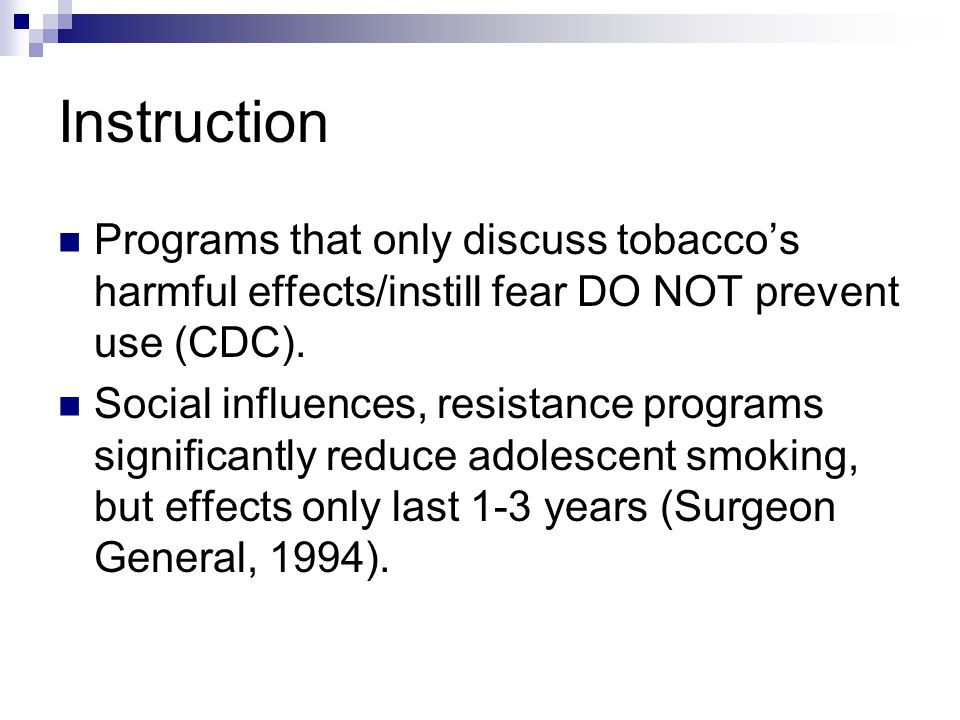 Tobacco Education Guidelines And Resources Reasons For Intervention