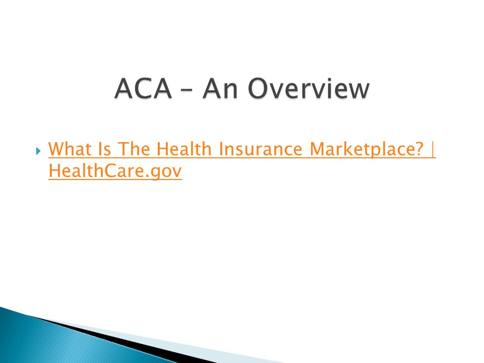  What Is The Health Insurance Marketplace.