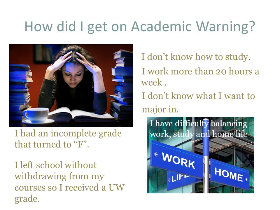 How did I get on Academic Warning. Not enough time to study I don't know how to study.
