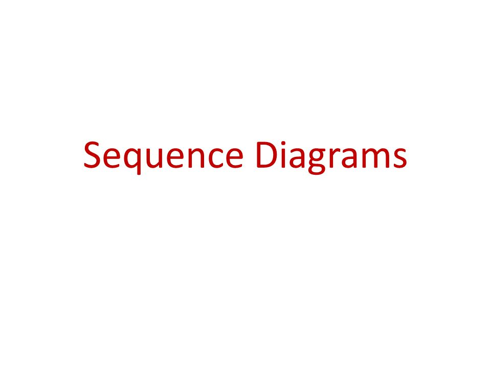 Sequence Diagrams Introduction A Sequence Diagram Depicts The