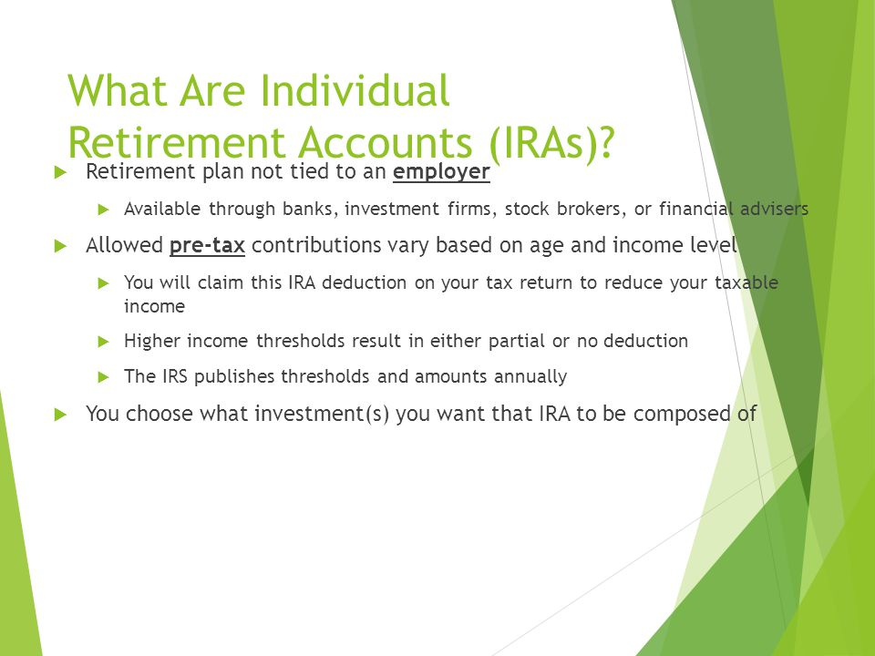What Are Individual Retirement Accounts (IRAs).
