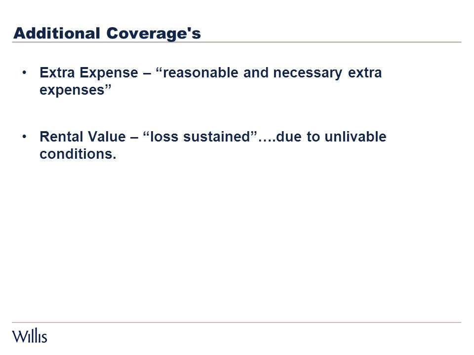 Business Interruption Claims Coverage Basic Concepts Willis Risk