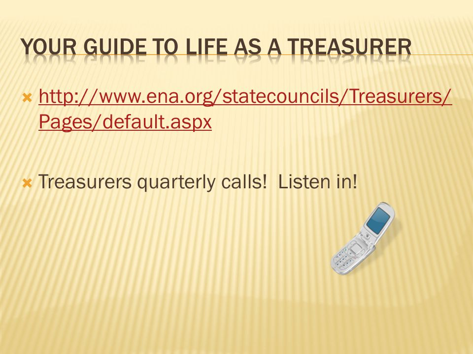    Pages/default.aspx   Pages/default.aspx  Treasurers quarterly calls.