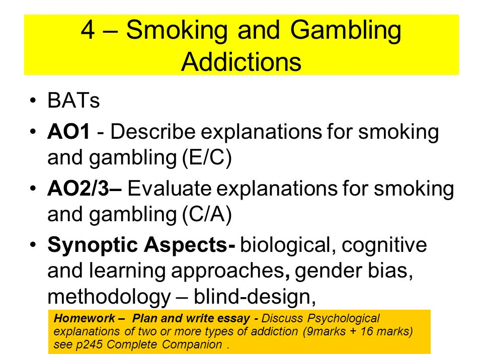 explanations gambling addiction