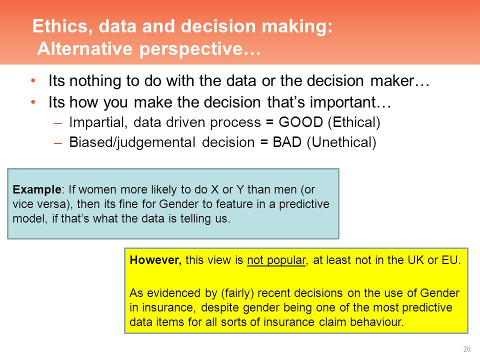 Unethical decision making examples