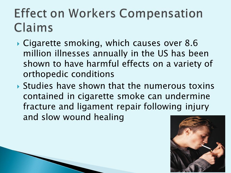  Cigarette smoking, which causes over 8.6 million illnesses annually in the US has been shown to have harmful effects on a variety of orthopedic conditions  Studies have shown that the numerous toxins contained in cigarette smoke can undermine fracture and ligament repair following injury and slow wound healing