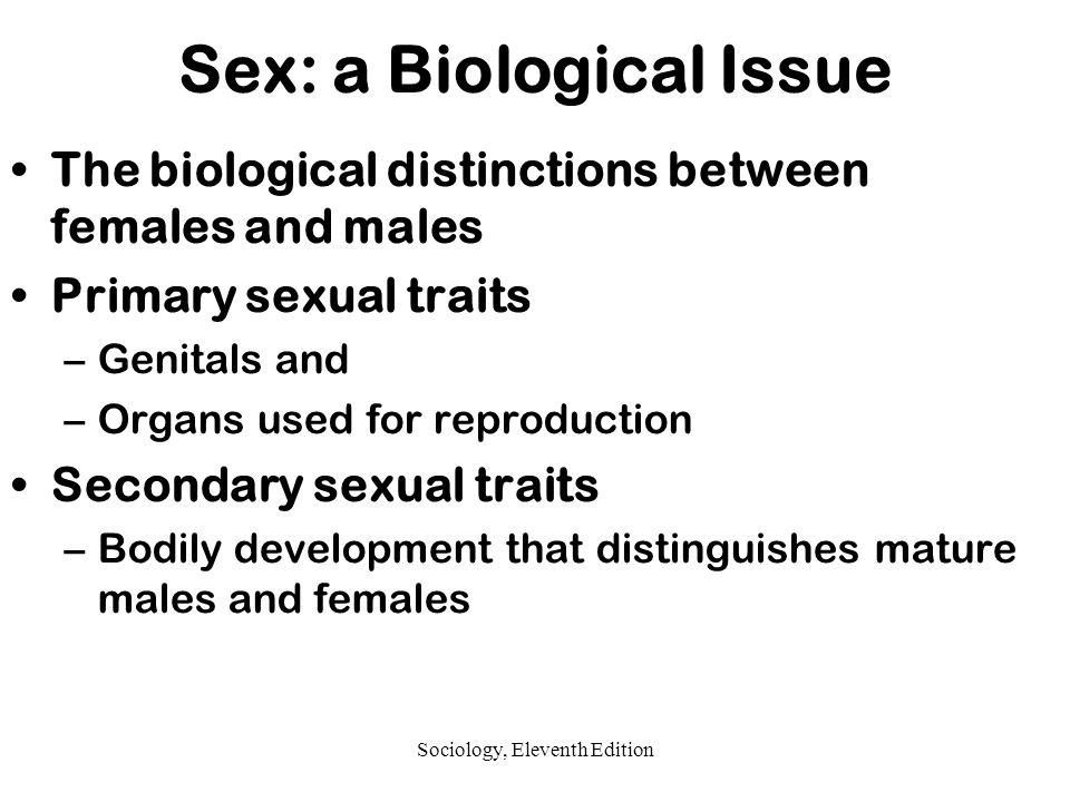Sociological questions about sexuality and reproduction