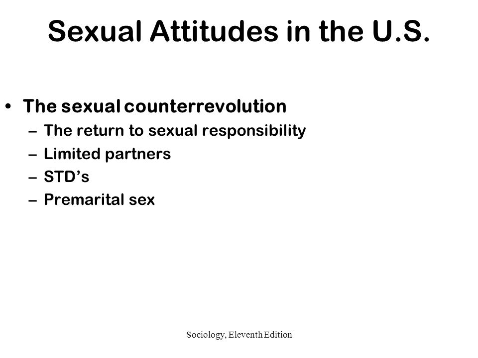 The effect of the sexual counterrevolution was