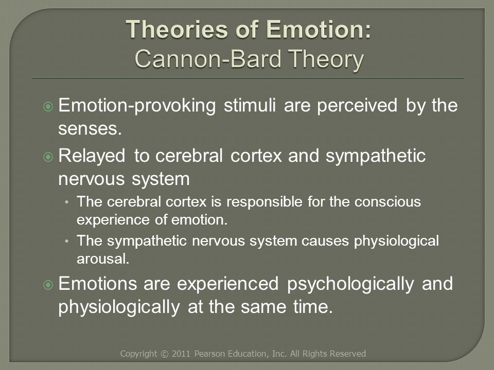  Emotion-provoking stimuli are perceived by the senses.