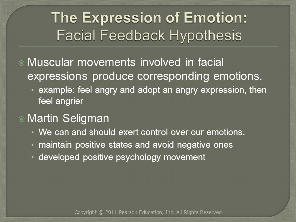  Muscular movements involved in facial expressions produce corresponding emotions.