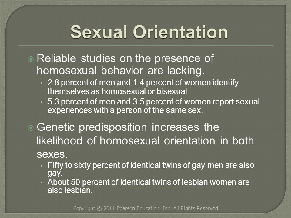  Reliable studies on the presence of homosexual behavior are lacking.