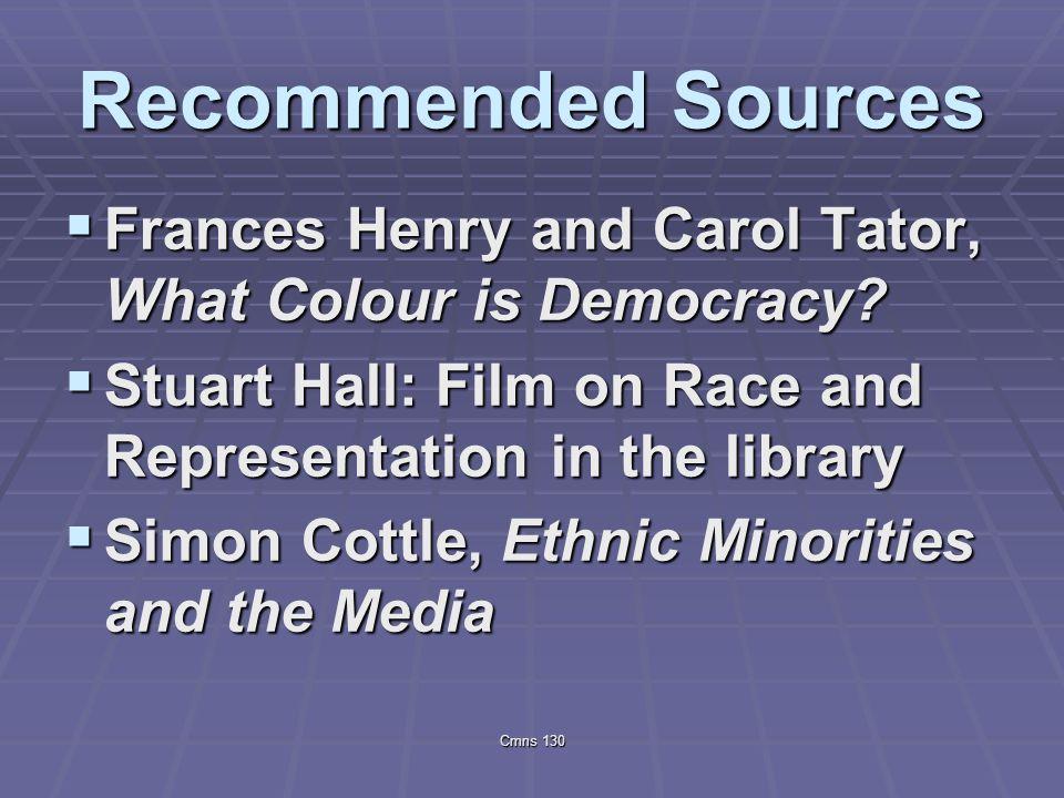 ethnic minorities and the media cottle simon