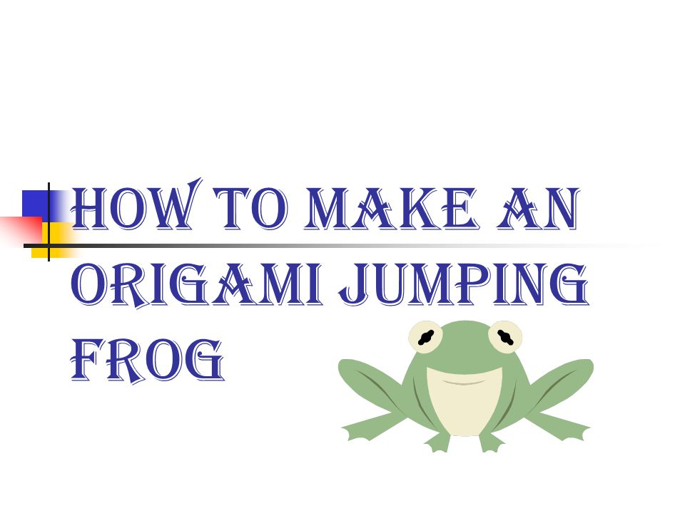 How to make funny a frog origami? | Diy Script | 720x960