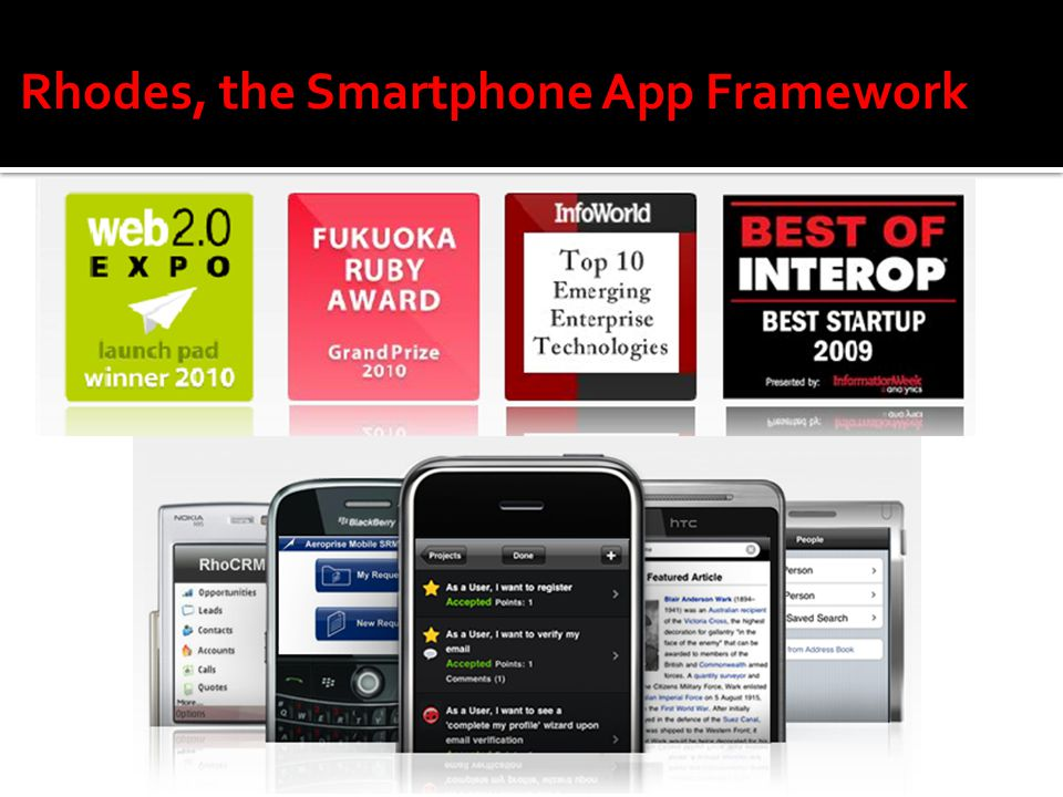 Rhodes, the Smartphone App Framework  Background  Smartphone sales
