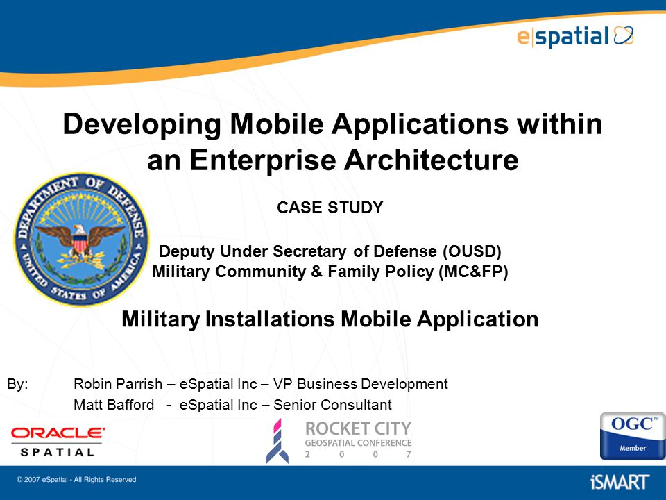 1 Developing Mobile Applications Within An Enterprise Architecture CASE  STUDY ...