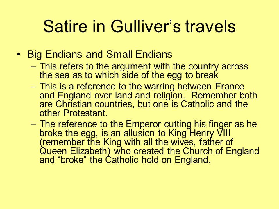 satire in gullivers travels