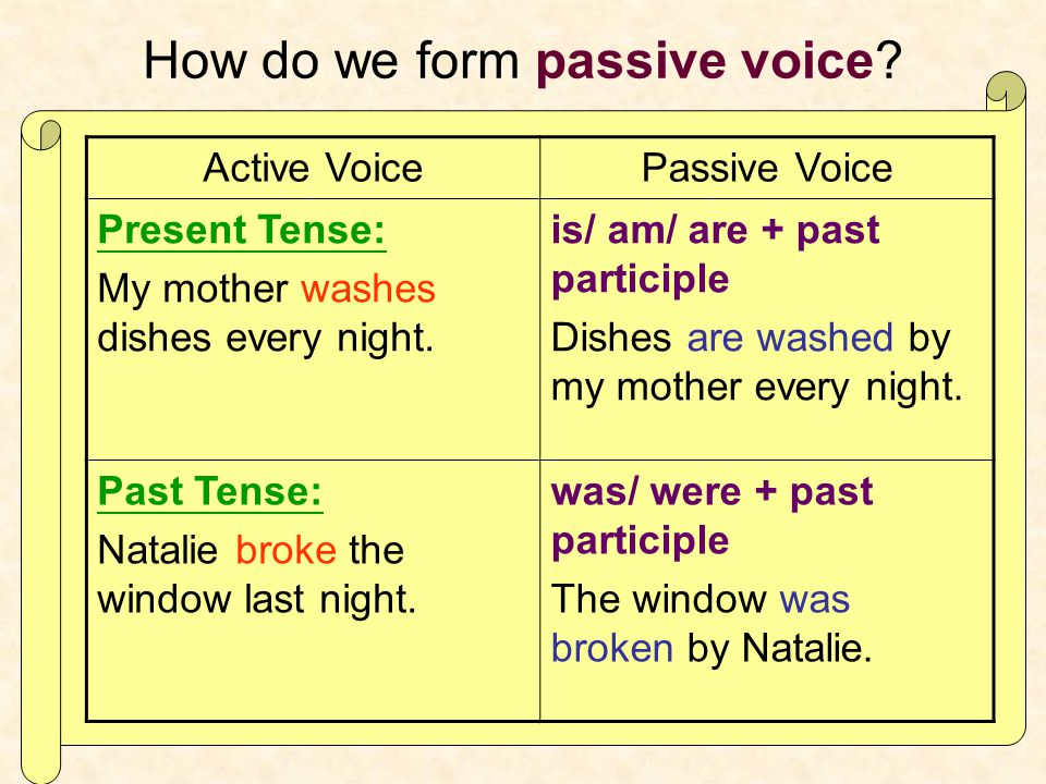 How do we form passive voice.