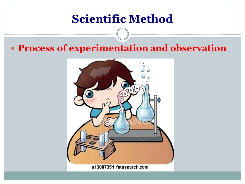 Scientific Method Process of experimentation and observation