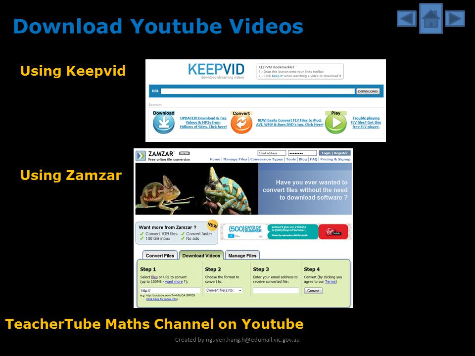 Online maths resources created by ppt download 6 download youtube videos using zamzar using keepvid teachertube maths channel on youtube created by nguyenhanghedumailc ccuart Gallery