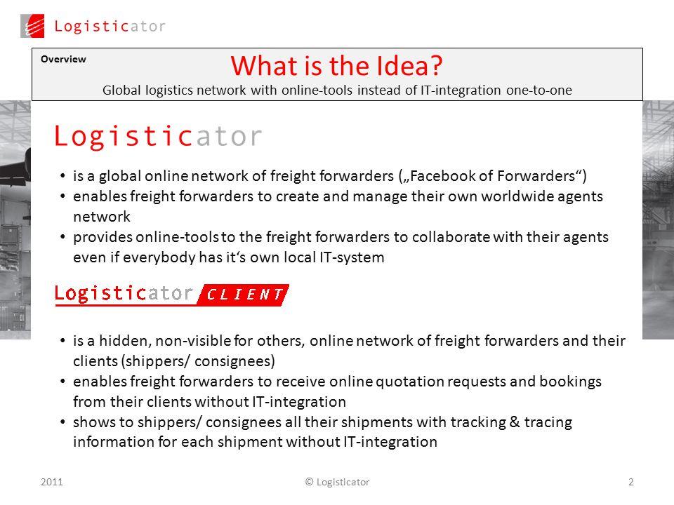 The Logistics Network 1© Logisticator2011  © Logisticator22011