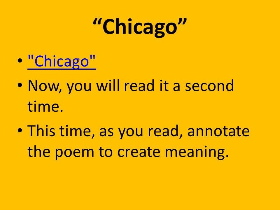 chicago poem meaning