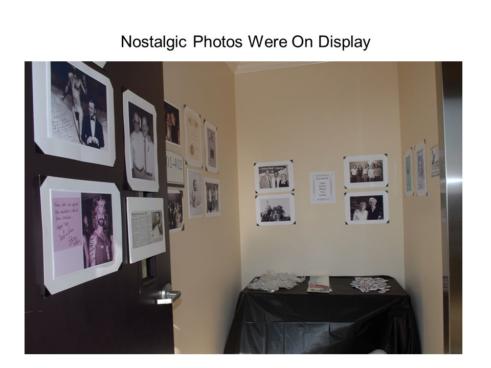 Nostalgic Photos Were On Display