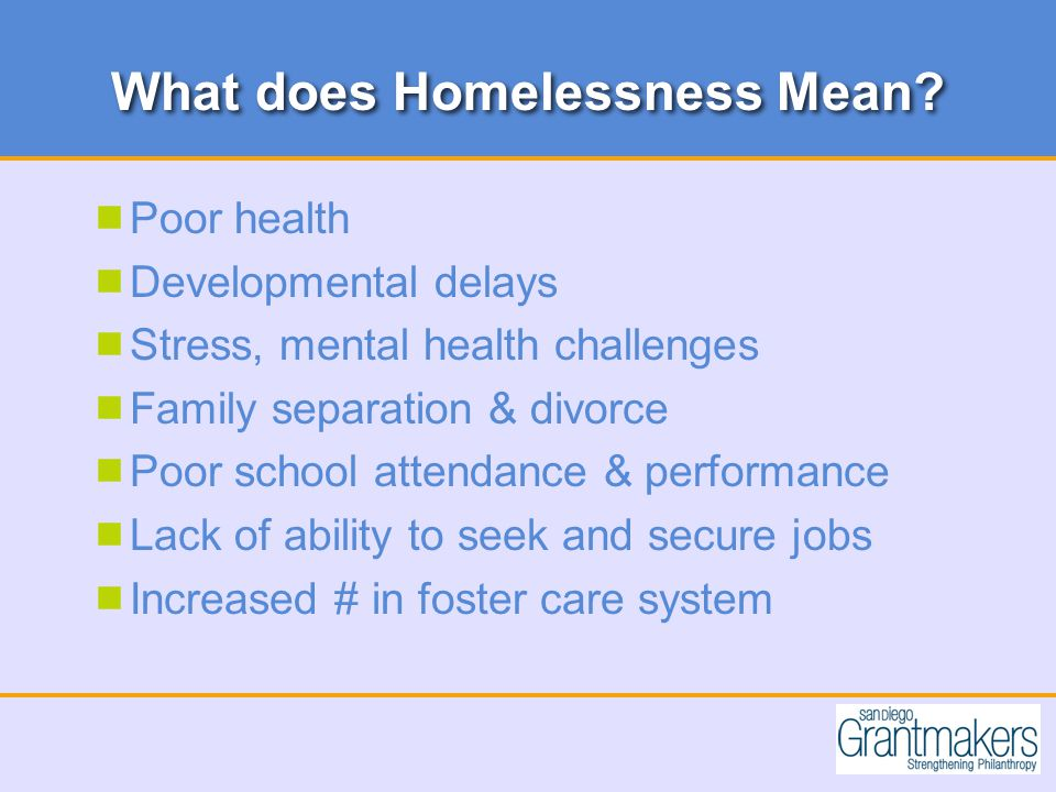 What does Homelessness Mean.